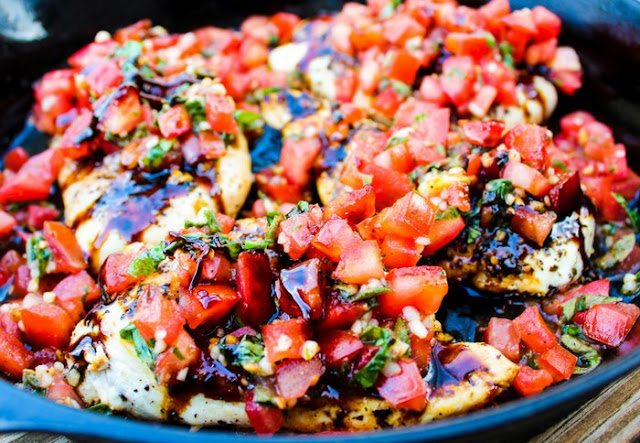 Healthy Bruschetta Chicken #keto #lowcarb