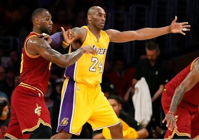 pictures Kobe Bryant and Lebron James staples centre