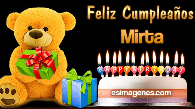 Feliz Cumpleaños Mirta