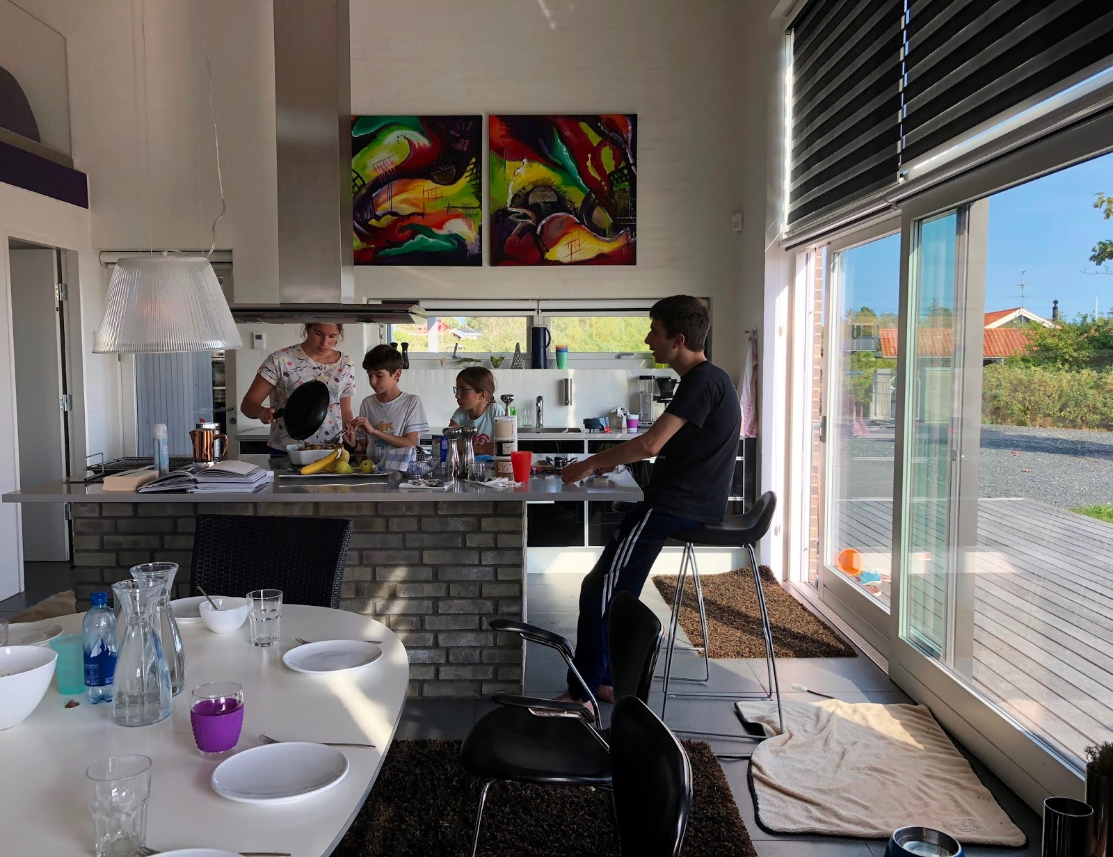 Meine Kinder kochen gemeinsam auf Kegnaes, Dänemark