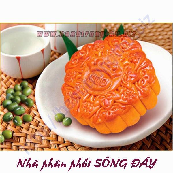 Bánh Trung thu Kinh Đô đậu xanh 2 trứng đặc biệt chiết khấu cao