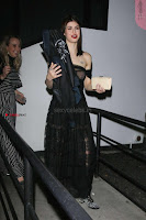 Alexandra Daddario Showing off her  in transparent top at Dior Addict Lacquer Pump Launch ~ Celebs.in Exclusive 007.jpg