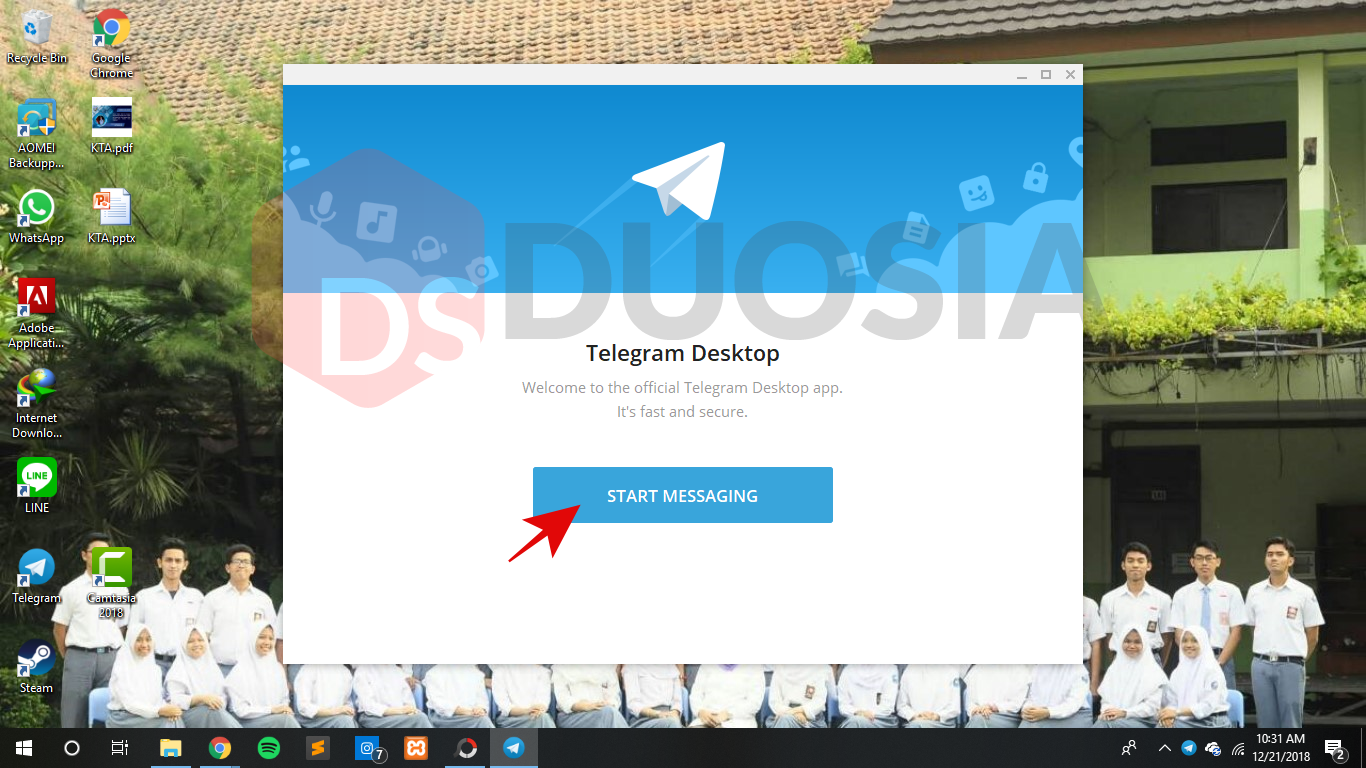 tutorial download telegram pc version