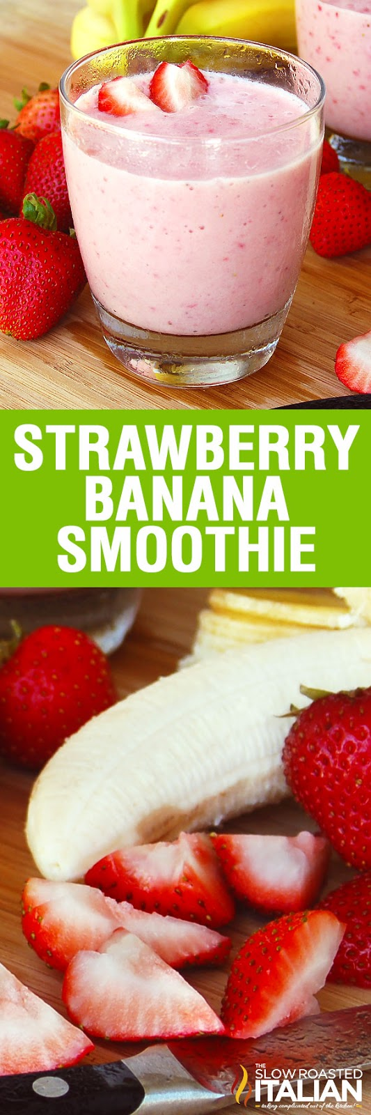 Strawberry Banana Smoothie is our favorite breakfast drink recipe! It is a power-packed shake loaded with protein and fresh fruit.  It is a simple recipe. With just 5 ingredients and a few minutes, you can have this fantastic Strawberry Banana Smoothie at home or on the go.