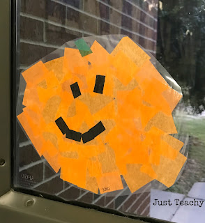 Stained Glass Pumpkins, www.JustTeachy.blogspot.com
