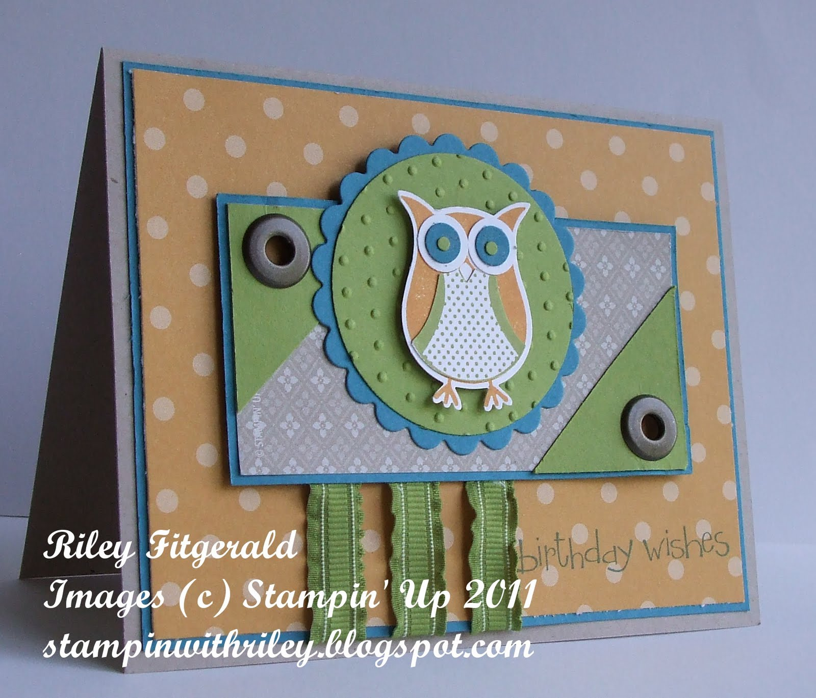 Stampin' With Riley: Birthday Wishes Owl