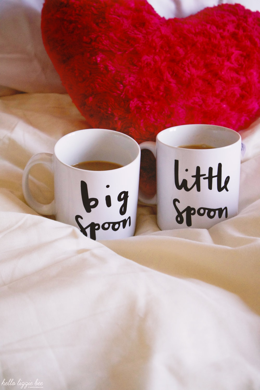 little spoon, big spoon, mugs, old english company