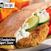 Falafel Sandwiches Accompanied by Yogurt Sauce