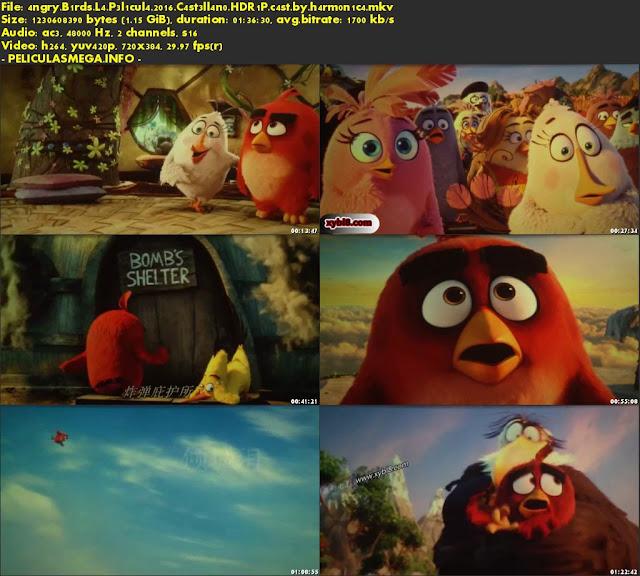 Descargar Angry Birds: La Película Castellano por MEGA.