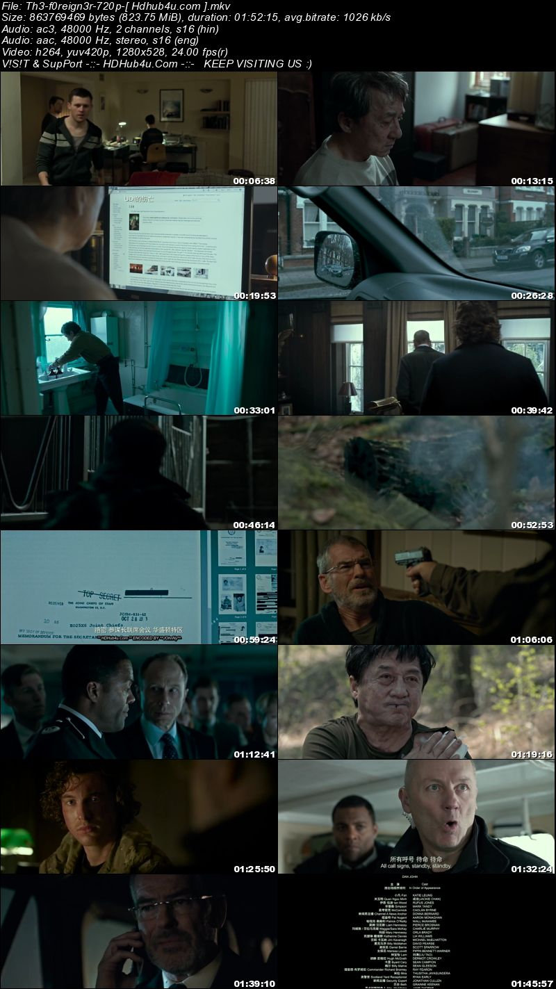 The Foreigner 2017 Hindi Dual Audio 480p HC HDRip Esubs 350MB Download