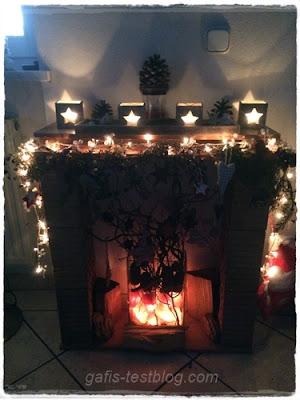 Weihnachtsdeko im Wohnzimmer
