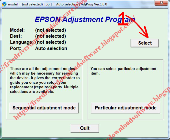 Epson L110, L210, L300, L350, L355  Resetter Drivers Tool Software Free Download