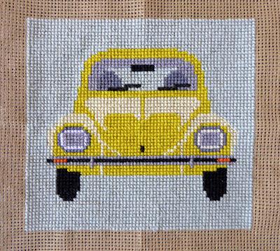 Fru Zippe VW bobbel i gul