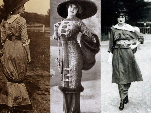 تنورة هابل الضيقة ، Hobble skirts