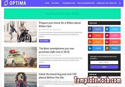 optima blogger template