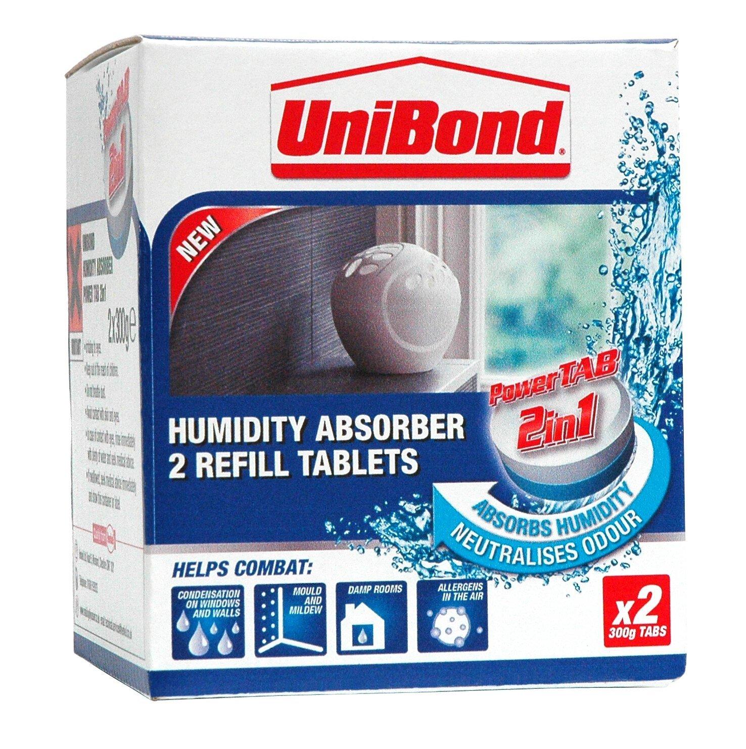 White Pack of 4 UniBond 2106199 Aero 360 Moisture Absorber Refills
