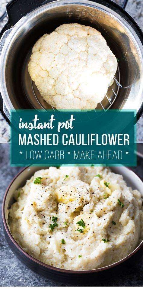 Creamy Parmesan Instant Pot Mashed Cauliflower
