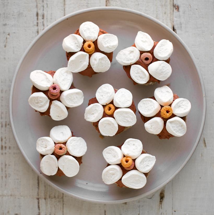 Vegan Marshmallow Flower Funfetti Cupcakes