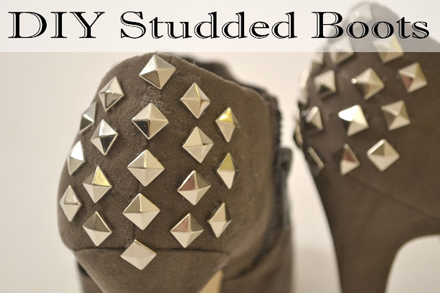 diy, diy studs, studded boots, studded shoes, diy tutorials, how to make studded boots, what to do with studs, studded booties, what to do with old shoes,