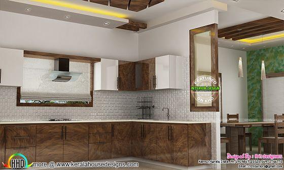 Kitchen interior in India