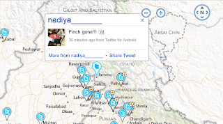Embed Bing Twitter Maps to website