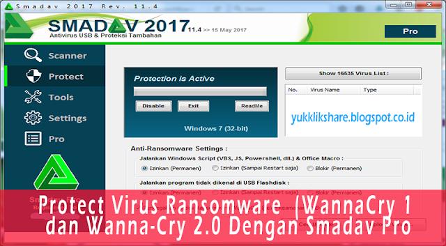 protect virus ransomware dengan smadav pro