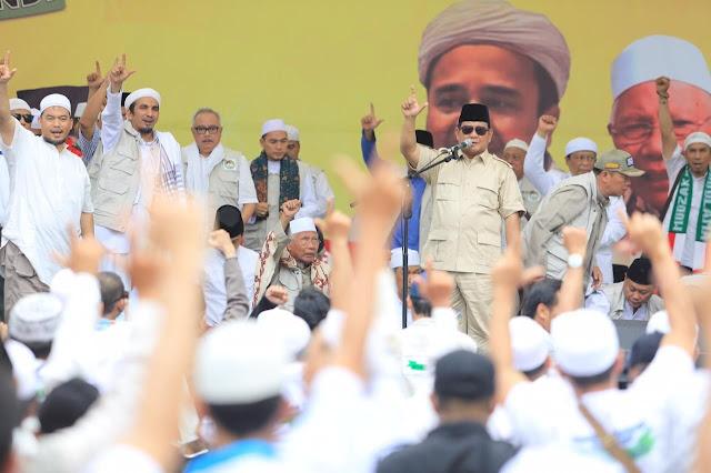 Di Hadapan Ulama, Prabowo Janji Kembalikan Indonesia ke Jalan yang Benar