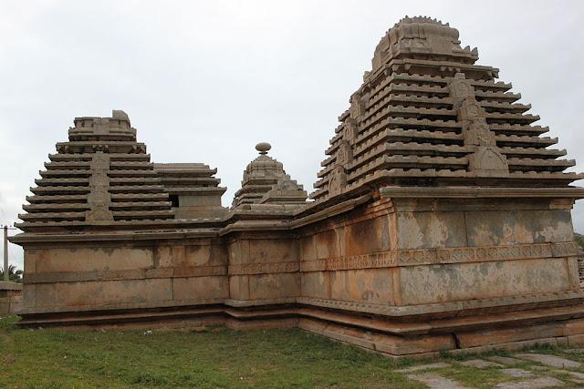 Temples on the Hemakuta Hill at Hampi built by Kampiladeva