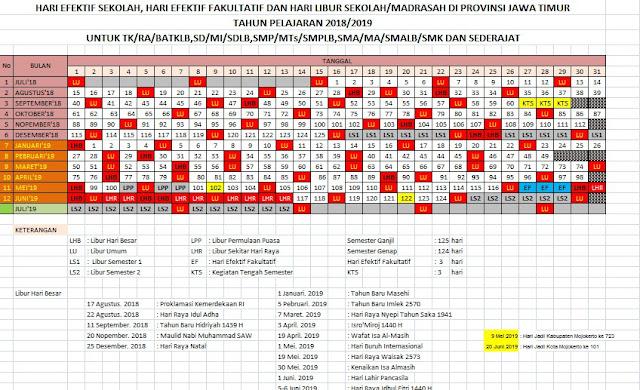 Download Gratis Kalender Pendidikan Tahun Ajaran 2018/ 2019 Semua Jenjang