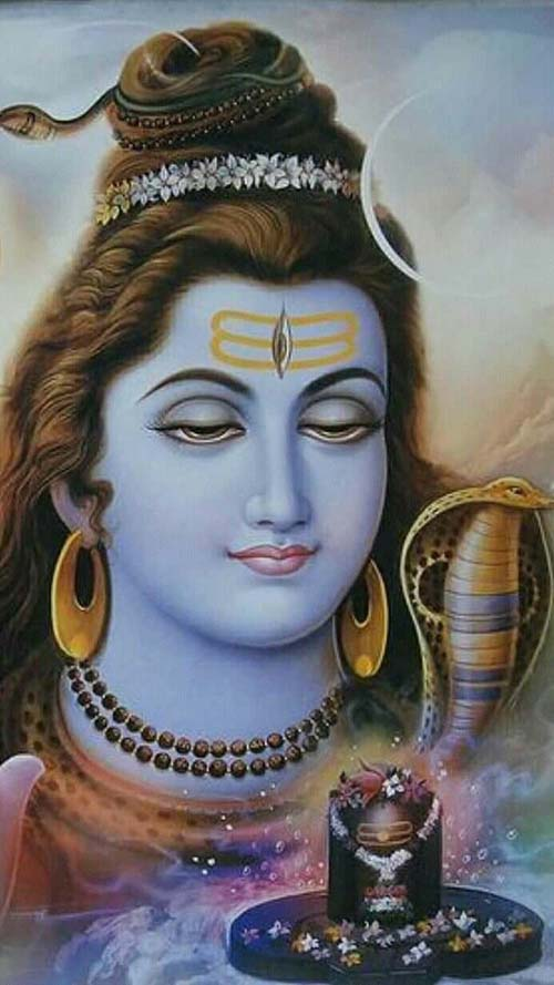 Meaning of Moon on The Hair of Shiva