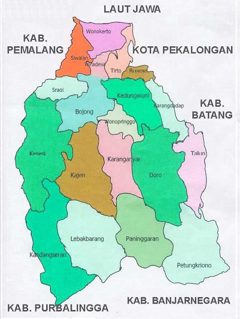 Gambar Peta Kecamatan Pekalongan