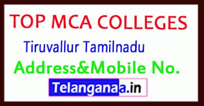 Top MCA Colleges in Tiruvallur Tamilnadu