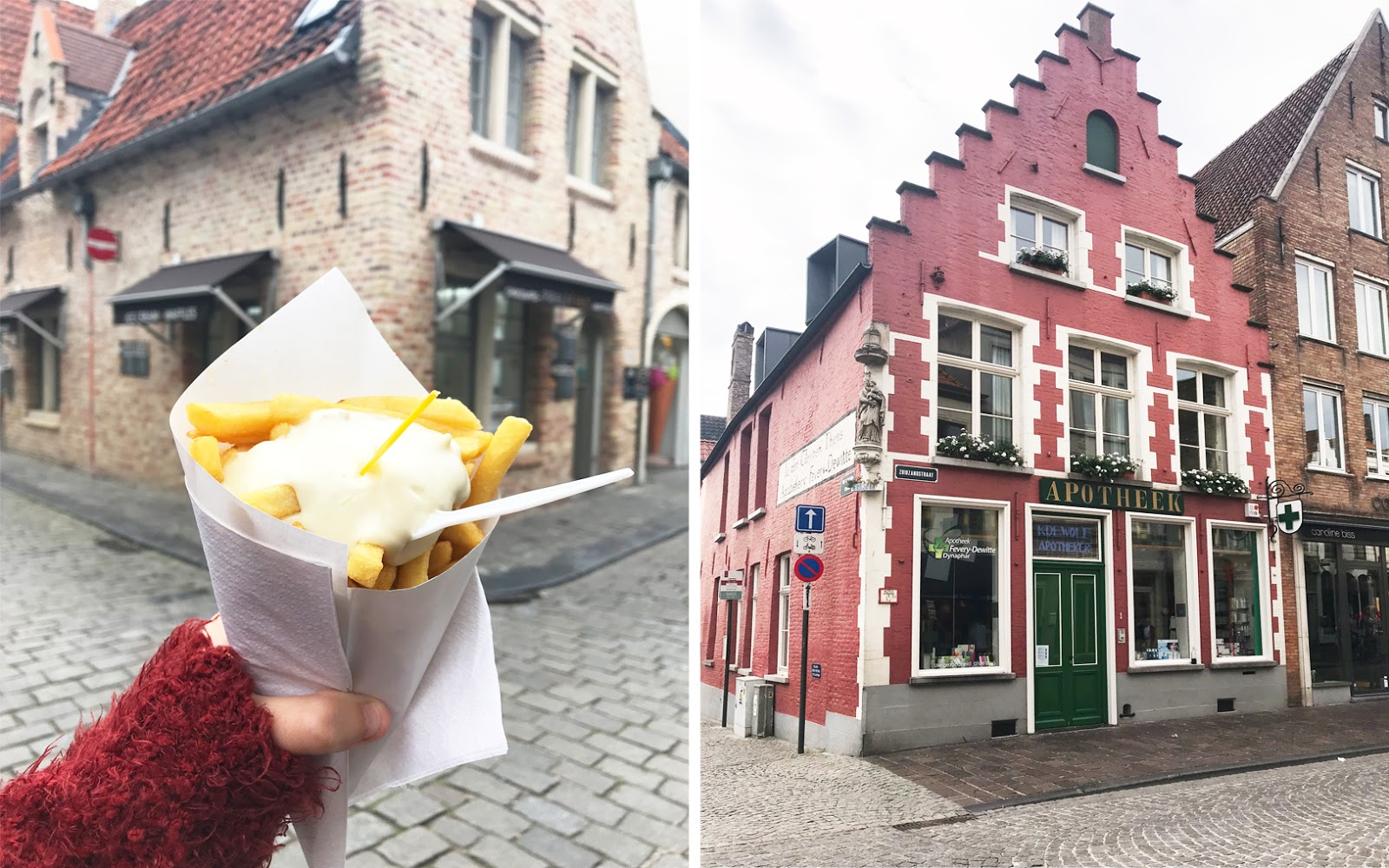 Bruges houses and chips