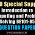 Question Paper for Introduction to Computing and Problem Solving BE101-05 Special Supplementary Exam Aug/Spt 2016