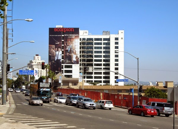 Giant Scorpion series premiere billboard Sunset Strip