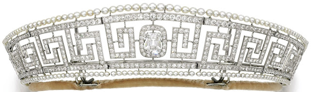 lady allan cartier pearl diamond meander tiara