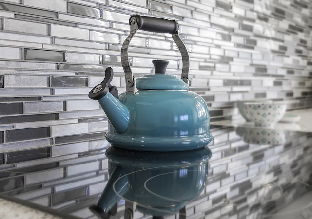kitchen-teapot-blue-glass