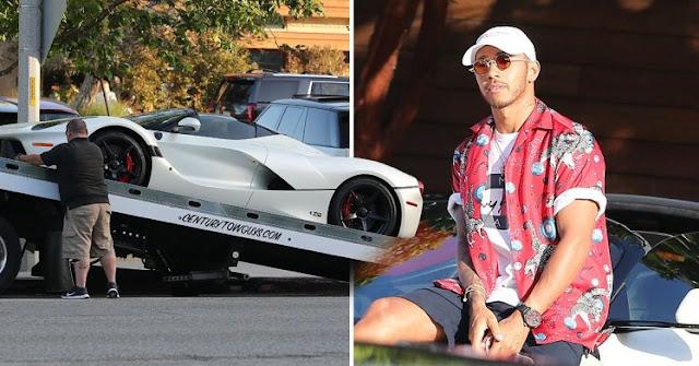 Ferrari de R$ 15 milhões quebra e deixa Lewis Hamilton a pé