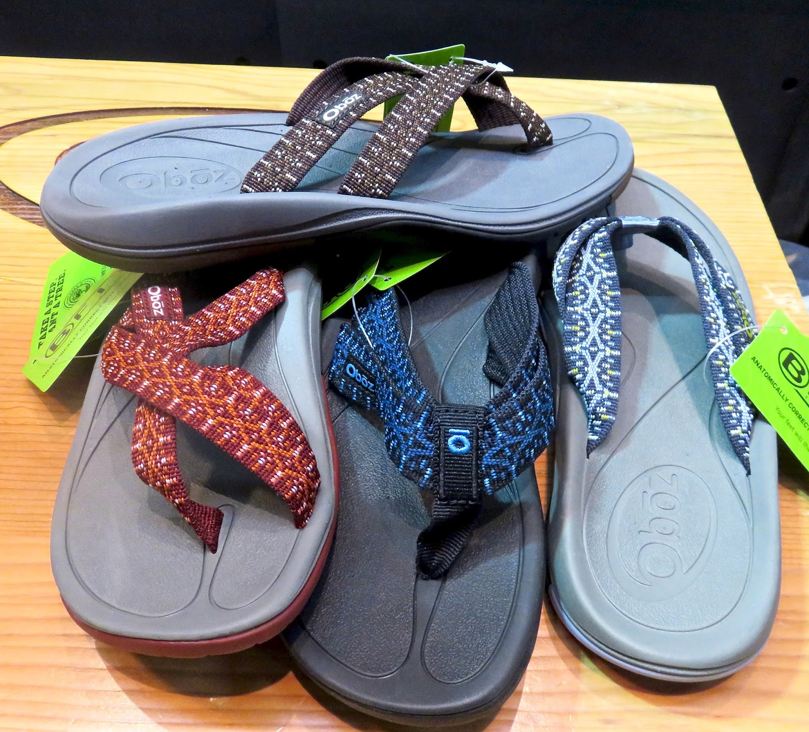 finally-OBOZ---who makes our fav waterproof/supportive and cute(!) winter  boots the MADISON Bdry-has a collection of flip-flops for Spring  2017...with the ...
