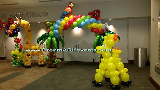 Balloon animals party decoration