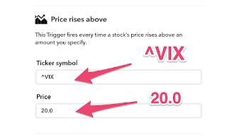 VIXが20を超えたときに通知させるIFTTT設定