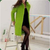 Chaleco redondo a crochet