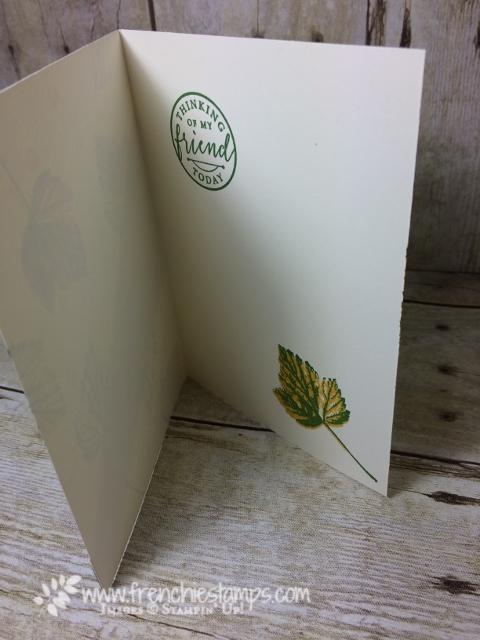 Recessed Panel Card, Painted Autumn designer paper,
