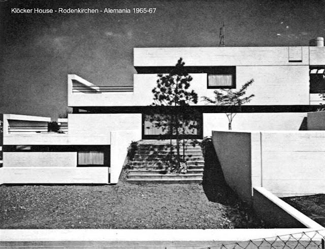 Casa alemana del Brutalismo arquitectónico
