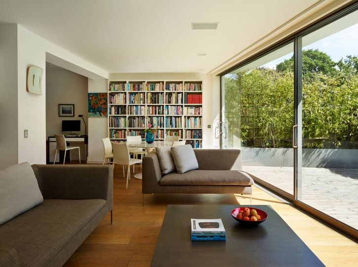 Hier Ist Ein Weiteres Einfaches Wohnzimmer Mit Beige Und Nude Farben Die Zusammen Hellem Holz Andere Dekore Machen Den Ganzen Raum