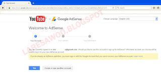 Mengaitkan Akun Youtube Dengan Adsense Beda E-mail
