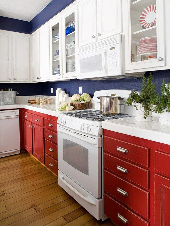 red and white kitchen ideas imagem atelier in box 25556