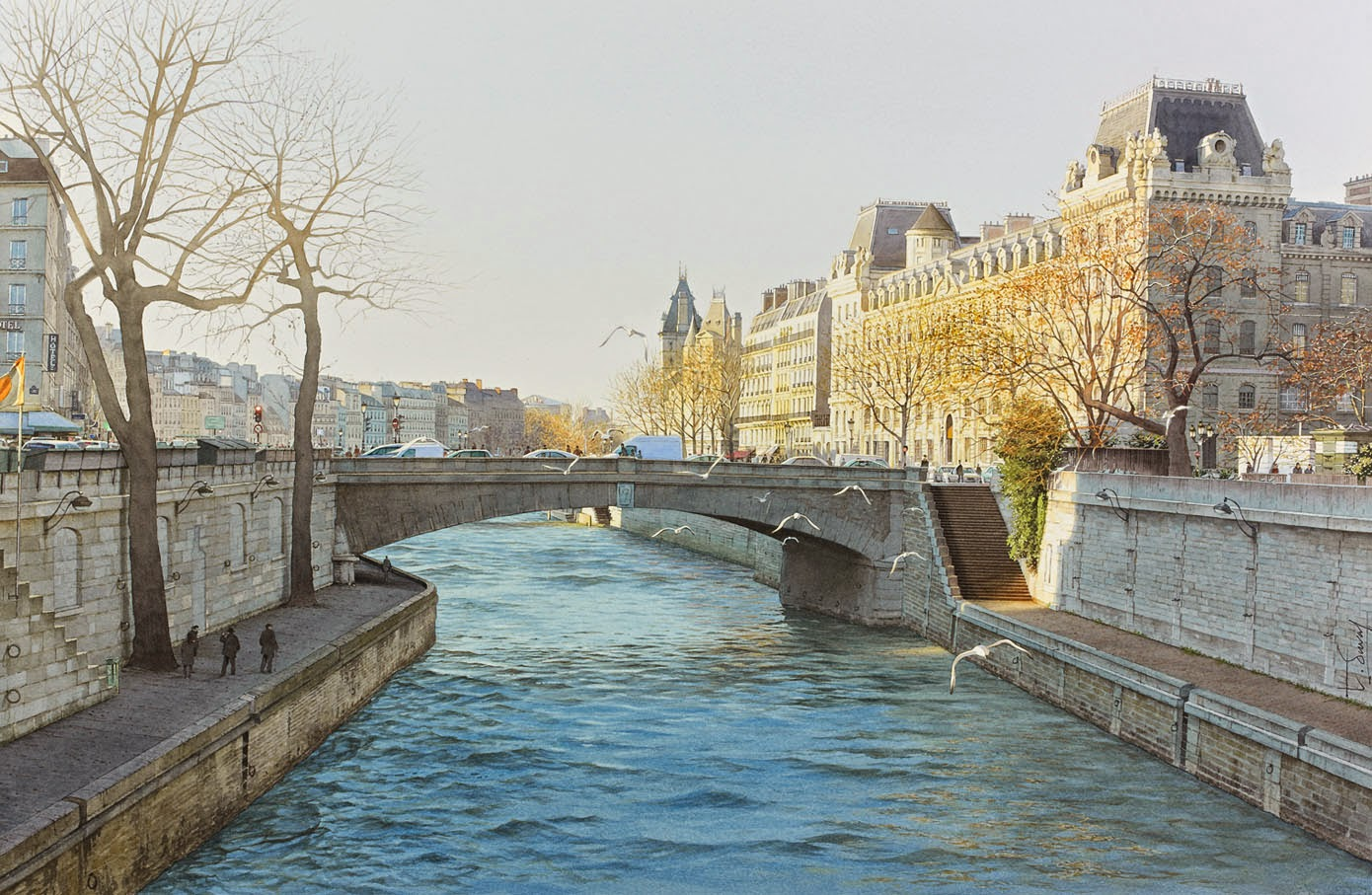 33-Paris-Thierry-Duval-Snippets-of Real-Life-in Watercolor-Paintings-www-designstack-co