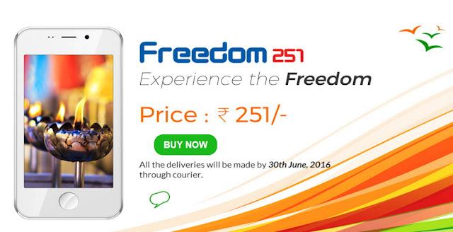 Freedom 251 Smartphone Termurah Sejagat Cuma Rp 50 Ribuan