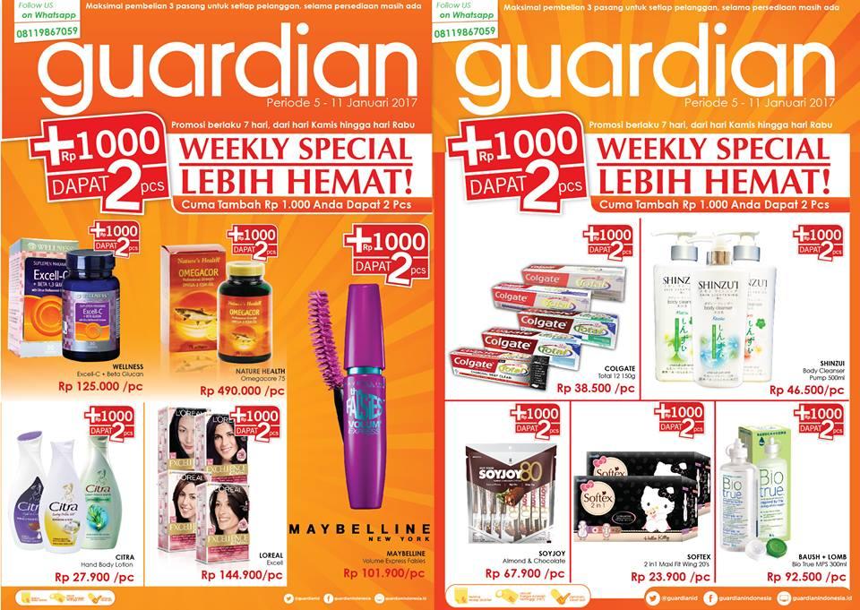 Katalog Harga Promo Guardian 5 – 11 Januari 2017